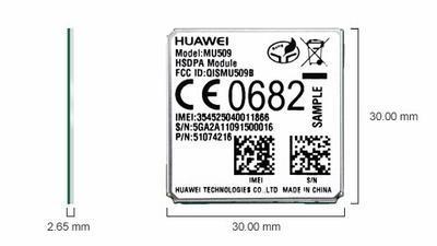 Huawei MU509-B, 3G, UMTS/HSDPA