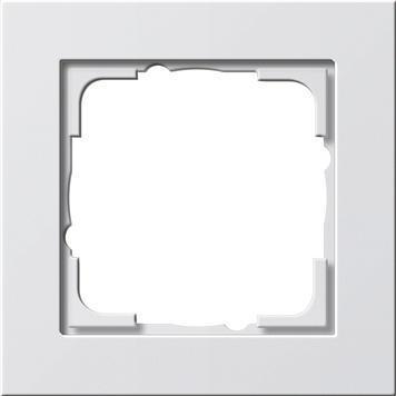 Frame 1x Gira E2 white matt