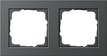 Frame 2x Gira E2 anthracite