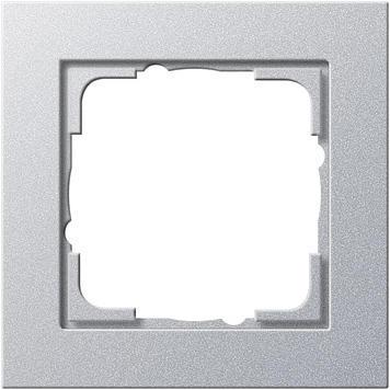 Frame 1x Gira E2 Silver