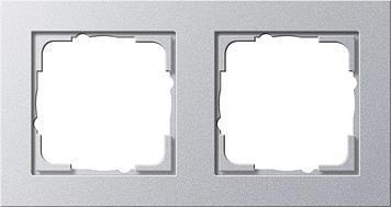 Krycí rámecek 2x Gira E2 stříbrná