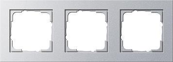 Frame 3x Gira E2 Silver