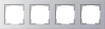 Cover frame Gira E2 4x Silver - 1