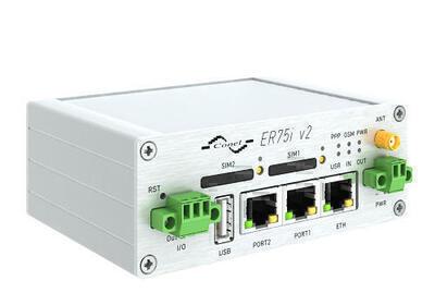 BIVIAS v2 Twin Module Cellular router, EMEA, Metallisch