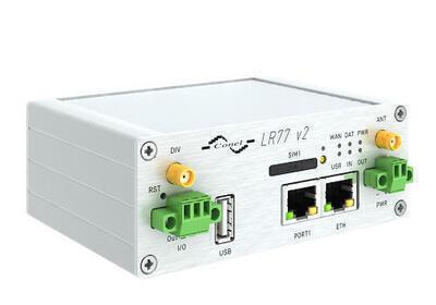 LR77 v2 industriell LTE router, EMEA, Plastik, No A