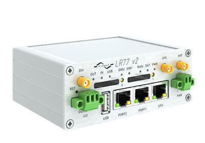 LR77 v2 industriell LTE router, EMEA, Metallisch, ACC UK