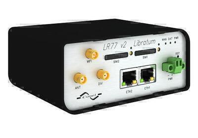 LR77 v2 Libratum LTE router, EMEA, Plastik, ACC US