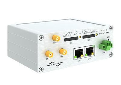 LR77 v2 industry LTE router, EMEA, Metal, ACC AU