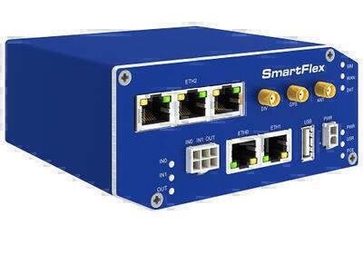 SmartFlex PoE industriell LTE router, EMEA, Metallisch,