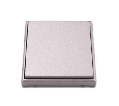 Bezdrátový vypínač 2 kanálový  stříbrný (lakovaný) - 1