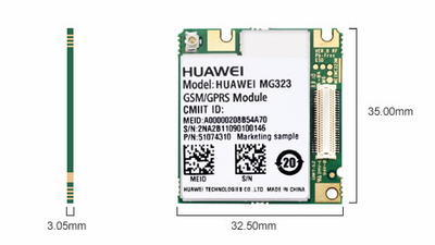 Huawei MG323 - LCC, GPRS, quad band - 2
