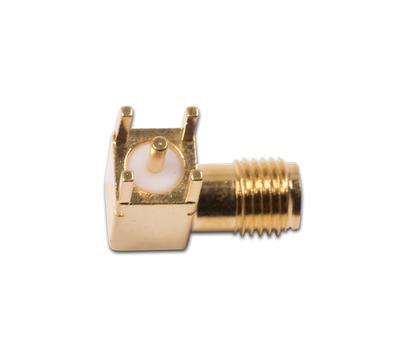 Konektor SMA úhlový  jack  PCB - 2